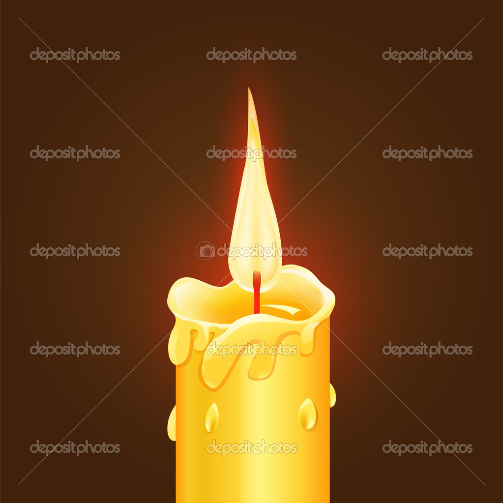 Vector illustration of Burning Candle stock vector