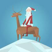 Weihnachtsmann und Rentier. Vektorillustration