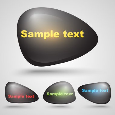 Vector black buttons with sample text. stock vector