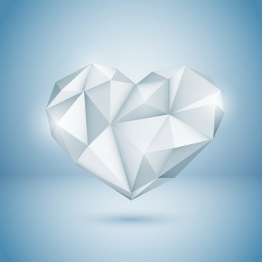 Diamond Heart. Vector illustration. stock vector