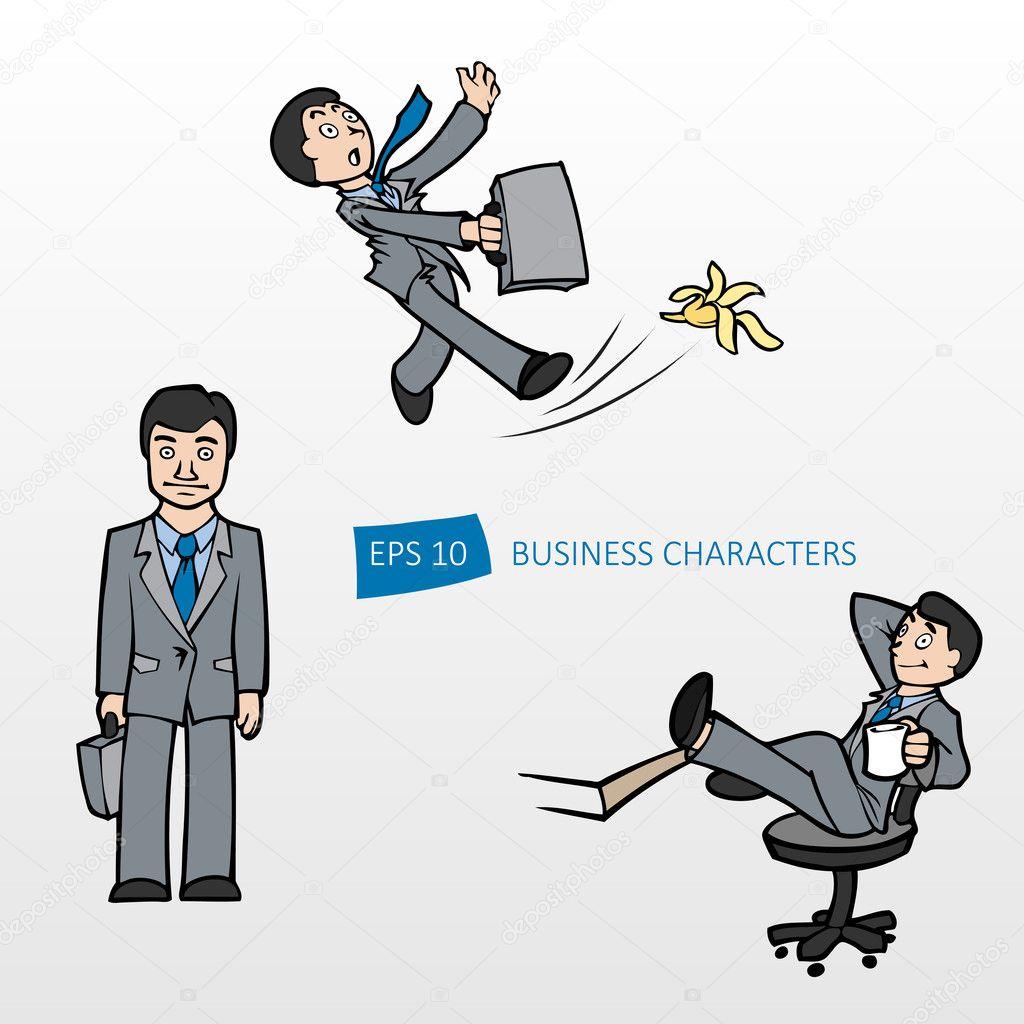 Vector illustration of three businessmen. stock vector