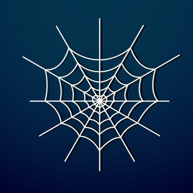 Vector spider web on dark background. stock vector
