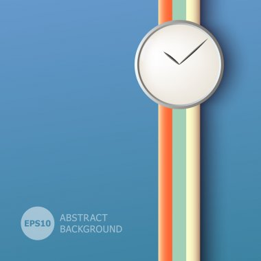 Abstract background with clock stock vector