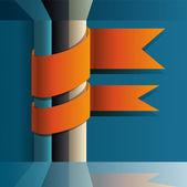 vektorové pozadí s oranžové stužky.