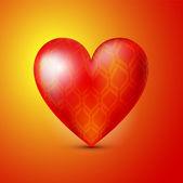 vektorové pozadí s červeným srdcem.