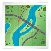 Vector illustration of road map.