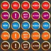 vektorové ikony pro prodej.