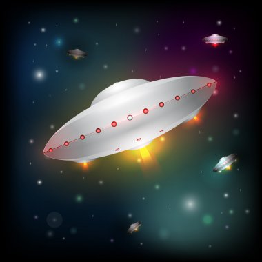Unidentified flying object. Vector illustration stock vector