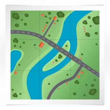 Vector illustration of road map. stock vector