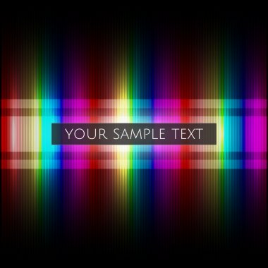 Vector rainbow background with sample text. stock vector
