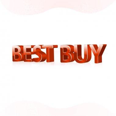 Best buy sign. Vector illustration. stock vector