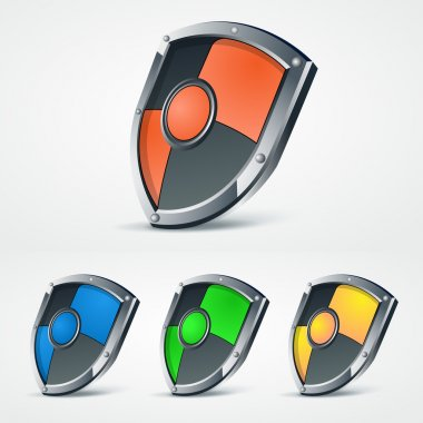 Set of vector shields. stock vector