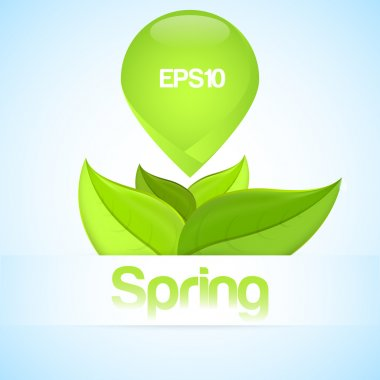 Vector spring background with leaves. stock vector