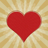 Vector Valentine background with red heart.