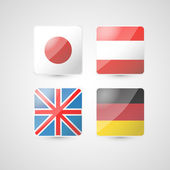 Vector set of four flags.