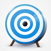 Blue target. Vector illustration.