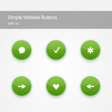 Set of buttons for website or app. stock vector
