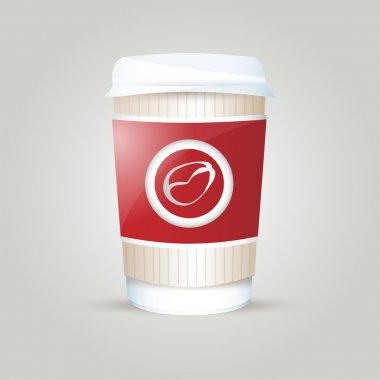 Paper coffee cup. Vector illustration. stock vector