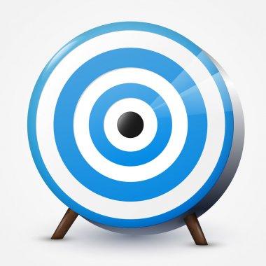 Blue target. Vector illustration. stock vector