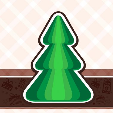 Vector background with christmas tree. stock vector