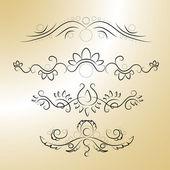 Vector calligraphic elements. Vector illustration.