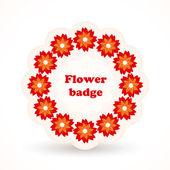 vektorové odznak s květinami.