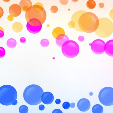 Vector background with colorful bubbles. stock vector
