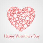 vektorové karta pro den svatého Valentýna se srdcem.