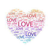 Herz der Liebe. Vektorillustration