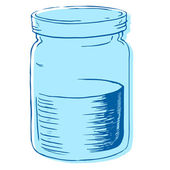 Vector illustration of a jar with water.