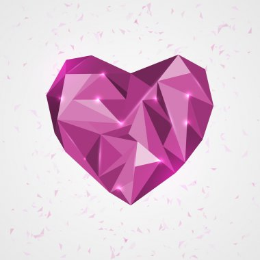 Geometry heart. vector illustration. stock vector
