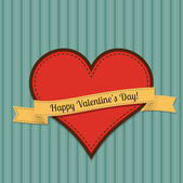 Vector vintage greeting card for Valentines day.