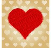 Vektor Hintergrund mit Herz.