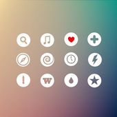 Vector set of icons.