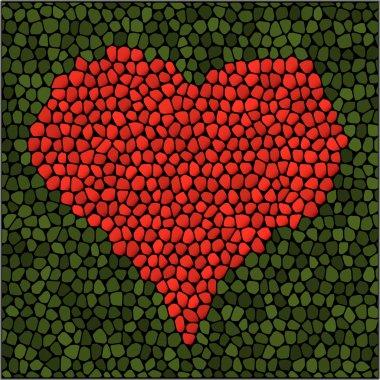 Mosaic heart. Vector illustration. stock vector