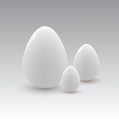 Vector illustration of white eggs. stock vector