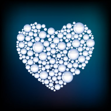 Vector heart from bubbles. stock vector