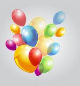 pozadí s barevnými balónky.