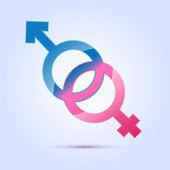 vektoros illusztráció a férfi és női nemi szimbólum.