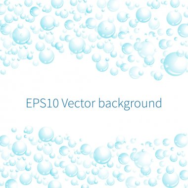 Vector background with bubbles. stock vector