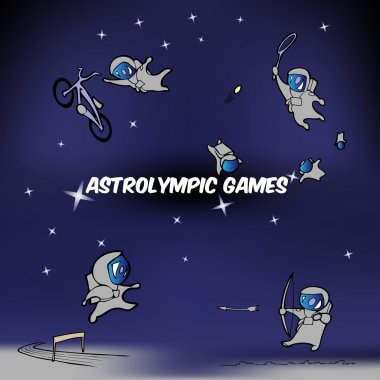 Vector illustration of astrolympic games. stock vector