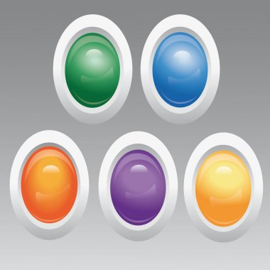 Vector set of colored buttons. stock vector