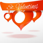 Vector background with hearts for Valentines day.