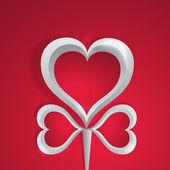 Vektorové pozadí se srdcem.