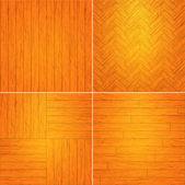 Set of wooden textures.Vector illustration.