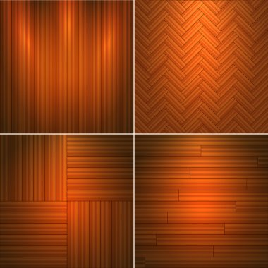 Set of wooden textures.Vector illustration. stock vector