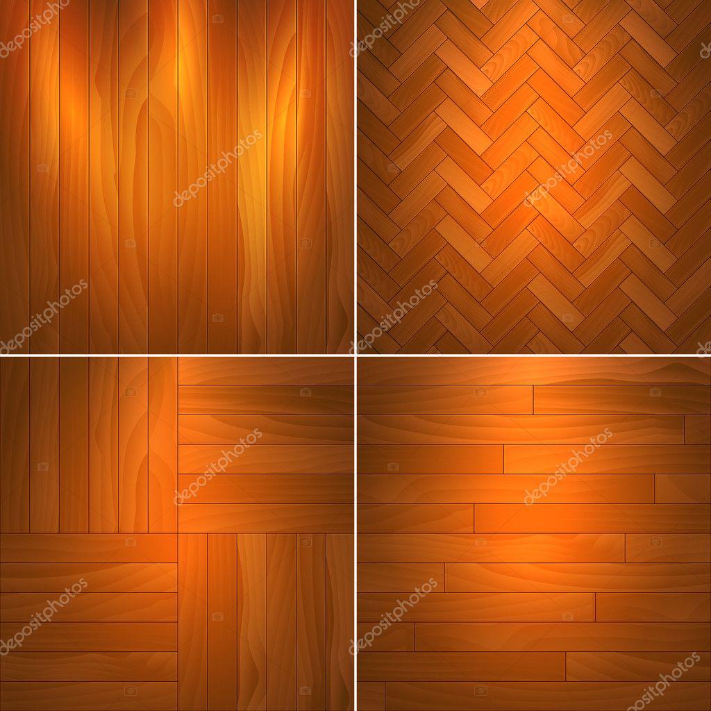 Set of wooden textures.Vector illustration. stock vector