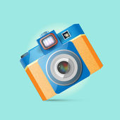 Vector illustration of a retro photo camera.