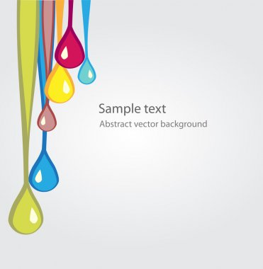 Vector background with colored drops. stock vector