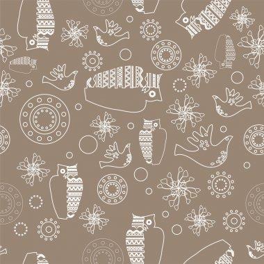 Vector folk background. Vector illustration. stock vector